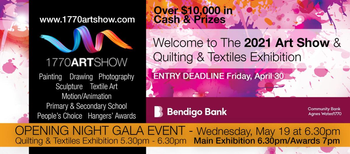 Proud sponsor of 1770 Art Show – 2021
